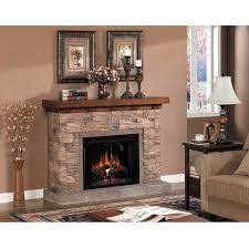 electric stone corner fireplace very innovative