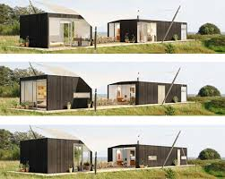 modular home design. architecture, tiny modular home with brown design comfortable nice completed green grass