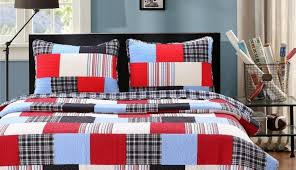 covers target fabric cotton cover blocks set hillside king twin haven rusti scots madras country red