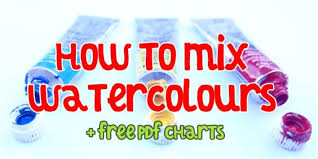 Paint Colour Chart Pdf How To Mix Watercolours Colour Theory Mixing Grays