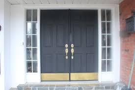 entry door kick plates. elegant spruce up my front doors black kick plates for remodel entry door