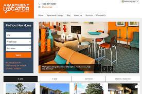 apartment website design. Apartment Locator \u2013 Homepage Website Design