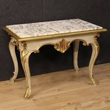 Italian Coffee Tables Marble 20th Century Italian Coffee Table In Lacquered And Gilded Wood C