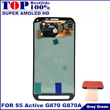 samsung galaxy s5 active colors. for samsung galaxy s5 active amoled lcd g870 lcds display screen touch digitizer assembly gray colors