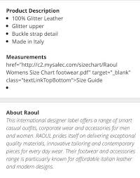 Raoul Size Chart Raoul Sandals Bnib Womens Fashion Shoes Flats Sandals