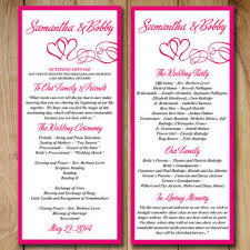 Program Template Tri Fold Fall Leaves 1 Funny Wedding Program