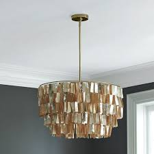 round capiz chandelier gold west elm capiz lighting chandelier