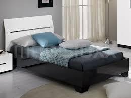 Bed Ginola 90x190 Cm Hoogglans Zwart Wit Bij Mobistoxx