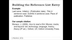 Apa Style Citation Tutorial
