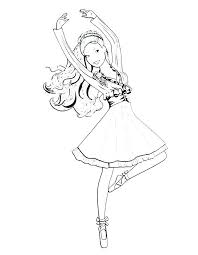 Angelina Ballerina Coloring Pages Ballerina Coloring Page Ballerina