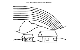 Small Picture Coloring Pages Of Rainbows Coloring Pages