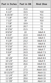 Nfinity Evolution Size Chart Nfinity Cheer Shoe Size Chart Best Picture Of Chart
