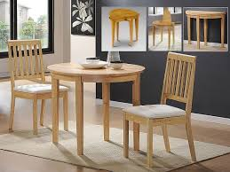 small solid rubberwood extending dining set 2 chairs in oak amazon co uk kitchen home