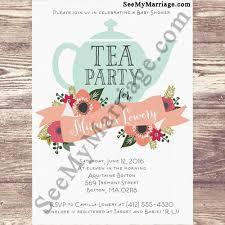 Baby Shower Invitation Cards High Tea Get Together Party Theme Baby Shower Invitation Card