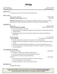 Incredible Ideas Biology Resume Template Attractive Inspiration ...