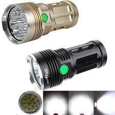 20000 Lumen 9T6 Chống Nước Skyray Đèn Pin Led 18650 Pin Trại Săn Bắn Đèn Pin  9x Cree XM L T6 Chiến Thuật Lồng Đèn Vàng + đen|t6 zoomable|t6  fluorescentt6 light - AliExpress