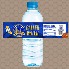 waterbottle labels golden state warriors team water bottle labels wrappers