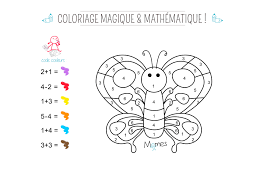 Coloriage Magique Et Math Matique Le Papillon Momes Net