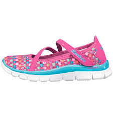 skechers running shoes for girls. skechers girls ziggity zag shoes pink/multi skechers running for a