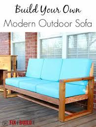 diy patio sofa plans. how to build a diy modern outdoor sofa diy patio plans