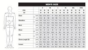 Chest Size Shirt Chart Ables Reference Size Chart For Beretta Clothing
