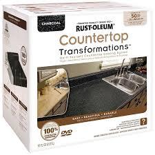 rust oleum countertop transformations charcoal semi gloss countertop resurfacing kit actual net contents