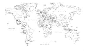 World Map Black And White Printable With Countries Black And White World Map Labeled Countries Dorm Art In 2019