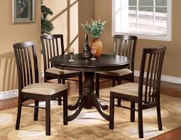... Small Dining Table For Dark Espresso Polished Wood Round Bar Kitchen  And Home Decor Armless Chairs ...