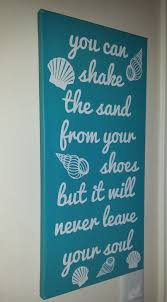 beach sign beach home decor seashell decor sand in shoes sign ocean sign wall art canvas wall art home decor unique wall art on custom word wall art canvas with 622 best nicolette s creations images on pinterest canvas quotes
