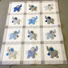 Best 25+ Crib quilt size ideas on Pinterest   Crib quilts, Baby ... & Elephant Treasures handmade quilt in blue and by Serenstitches Adamdwight.com