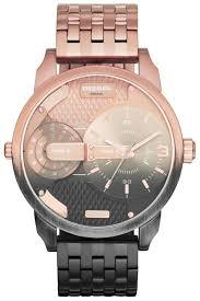 diesel dz7258 sba leather chrono gunmetal brown watches grey diesel little daddy ombré rose gold gunmetal grey watch