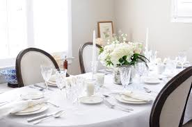Elegant White Tablescape Styling  Etiquette Tips  Veronica - Dining room etiquette