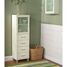 bathroom linen cabinets. simple living frosted pane 4 drawer linen cabinet bathroom cabinets