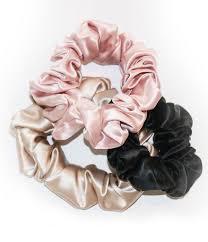 Designer Scrunchies Slip Silk Slip Color Scrunchies In 2019 Silk Hair