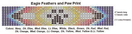 navajo bead designs. Fine Navajo Paw Print U0026 Feathers To Navajo Bead Designs K