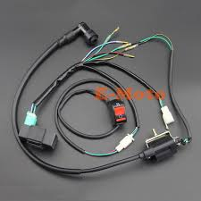 complete kick start engine wiring harness loom cdi ignition coil ignition wiring harness 89 f150 complete kick start engine wiring harness loom cdi ignition coil kill switch for 50cc 110cc 125cc