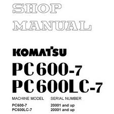 Excavator Classification Chart Komatsu Pc600 7 Pc600lc 7 Hydraulic Excavator Shop Manual 20001 And Up Sebm031206