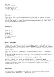 Police Officer Resume Template Classy Resume Police Officer Engneeuforicco