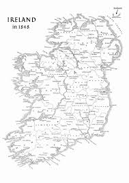Year Of Famine Map Of Ireland