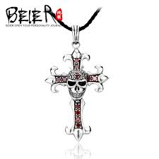 get ations beier european and american cross skull pendant necklace 925 silver jewelry with sterling silver necklace male