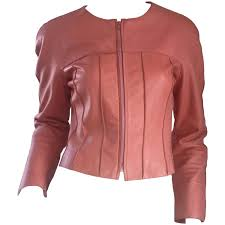 chanel pink leather jacket spring summer 1999 rare vintage runway piece at 1stdibs