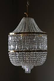 a large 1950s italian crystal chandelier