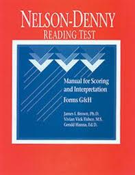 Nelson Denny Score Chart Ndrt Nelson Denny Reading Test Manual For Scoring And