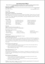 Resumes Lawforcement Resume Police Officer Objective Exles Great It