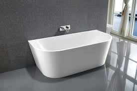 freestanding bathtub nova white made of sanitary acrylic 170 x 80 cm