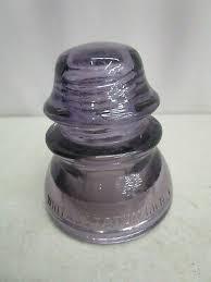 vintage purple lavender glass insulator whitall tatum co no 1