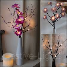 lighting twigs.  lighting light up twigs redoubtable 10 battery operated led twig flower petal  lights with vase and 6 intended lighting e