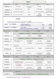 Calendario De Peregrinaciones Extraordinarias De Las Hermandades Y
