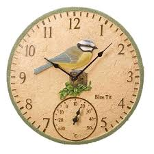 outdoor clocks bluedesign the garden factory throughout clock thermometer decorations 7