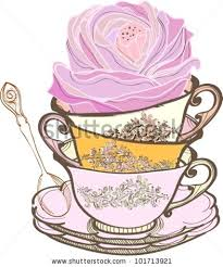 vintage tea cups vector. Simple Tea Tea Cup Background With Spoon And Flowervector Illustration For Vintage Tea Cups Vector T